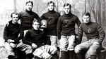 Princeton football heroes (L-R) Arthur Poe, Samuel Johnson Poe, Neilson (Net) Poe, Edgar Allan Poe, Gresham Poe and John Prentiss Poe Jr.