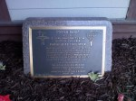 Plaque honoring Banic In Greenville, Pennsylvania.