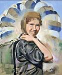 Tiny Broadwick's portrait at the First in Flight Shrine, Kitty Hawk, North Carolina.