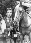 Gail Davis as Annie Oakley, with her horse Target
