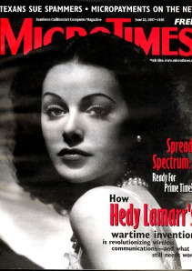 Micro Times magazine with coverage of Lamarr's achievements in technology