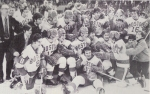Kelley and his 1972 team, on the ice for the final time at Boston Garden