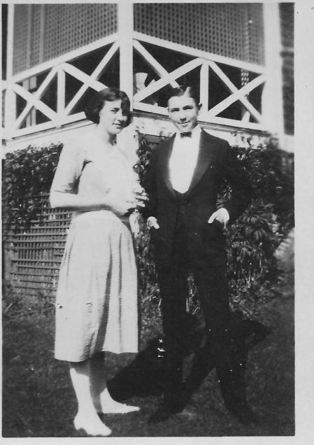 George Lermond and his sister Mary in Nahant before BC High graduation, 1921