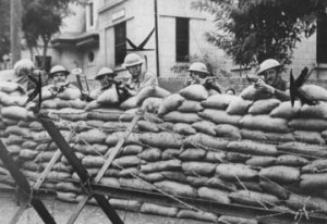 George's 15th Infantry Defending Post in Tientsin, China