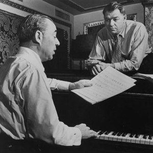 The team of Richard Rodgers (at piano) and Oscar Hammerstein