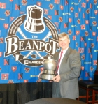 With the Beanpot, since 1952 the emblem of the college hockey championship of Boston.