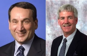 Coaches Mike Krzyzewski and Shawn Walsh:  Classy, Frequent Winners Who Were Gracious and Sporting in Defeat