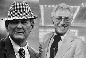 Paul Bryant and Allen Ludden, giants of the gridiron and television studio, respectively. The Bryant-Ludden Trophy, emblem of student-athlete superiority, will be named in their honor.