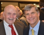 Bill Cleary and Tom Burke at Gridiron Club of Greater Boston Awards Dinner, December 18,2014