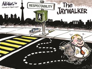 Cartoon by veteran Canadian political cartoonist Steve Nease