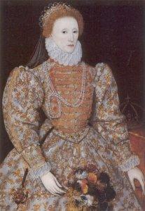 Queen Elizabeth I portrait in Britain's National Gallery.