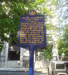Memorial Marker in Philadelphia