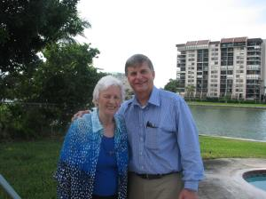 With Mary Wygodski at her home in St. Petersburg, Florida in December 2015.